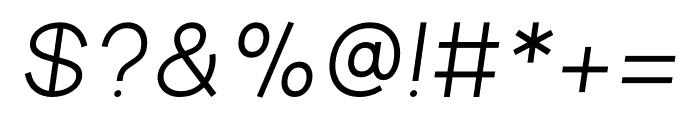 Aperta Bold Italic Font OTHER CHARS