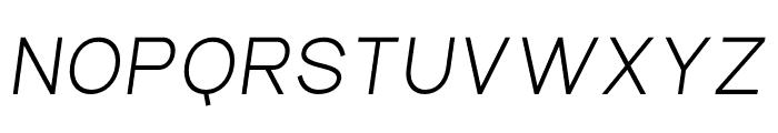 Aperta Bold Italic Font UPPERCASE
