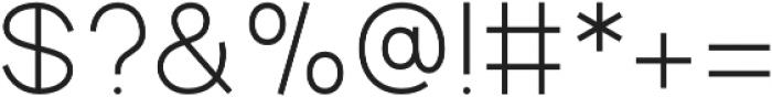 Aperta Light otf (300) Font OTHER CHARS