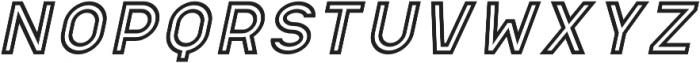 Apice Light Outline Italic otf (300) Font UPPERCASE