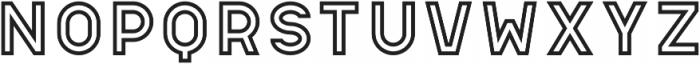 Apice Regular Outline otf (400) Font LOWERCASE