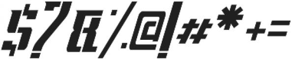 Apocalypse Stencil Italic otf (400) Font OTHER CHARS
