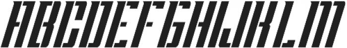 Apocalypse Stencil Italic otf (400) Font UPPERCASE