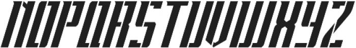 Apocalypse Stencil Italic otf (400) Font LOWERCASE