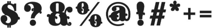Apple Pie Fill Regular otf (400) Font OTHER CHARS