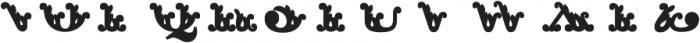 Apple Pie Half Fill Regular otf (400) Font UPPERCASE