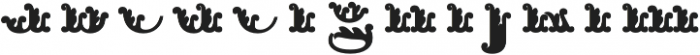Apple Pie Half Fill Regular otf (400) Font LOWERCASE