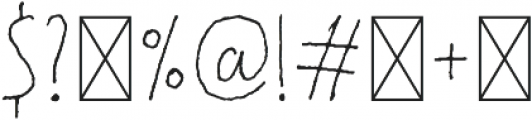 ApplePie-ThinUp Regular otf (100) Font OTHER CHARS