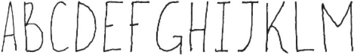 ApplePie-ThinUp Regular otf (100) Font UPPERCASE
