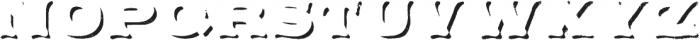 Applewood Shadow Regular otf (400) Font UPPERCASE