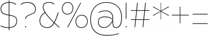 Apricity otf (100) Font OTHER CHARS
