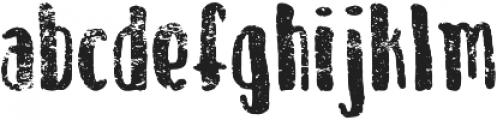 April Thaw Regular otf (400) Font LOWERCASE