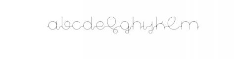Aparicio Light Premium Font Font LOWERCASE