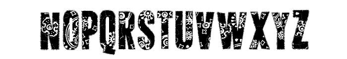AP Applique Stitched Font UPPERCASE