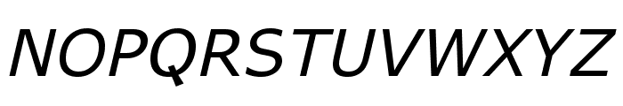 APHont Italic Font UPPERCASE