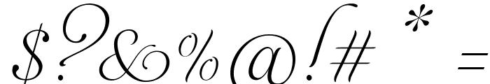 AphroditeSlimPro Font OTHER CHARS