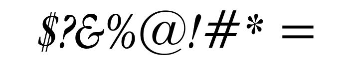 Apple Garamond Italic Font OTHER CHARS