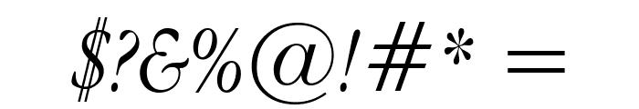 Apple Garamond Light Italic Font OTHER CHARS