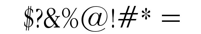 Apple Garamond Light Font OTHER CHARS