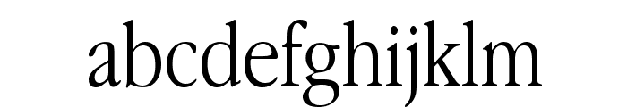 Apple Garamond Light Font LOWERCASE