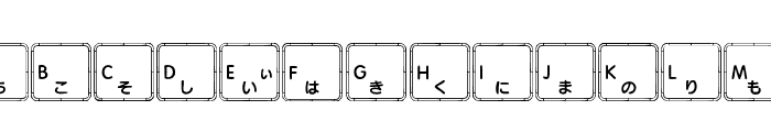 Apple Japanese Keyboard Font UPPERCASE