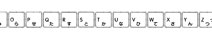 Apple Japanese Keyboard Font LOWERCASE