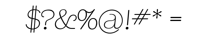 Apple Tree Italic Font OTHER CHARS
