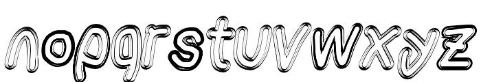 AppleStorm Extra Bold Blurry Fax Italic Font LOWERCASE