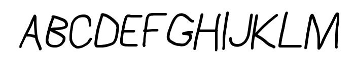 AppleStorm Regular Italic Font UPPERCASE