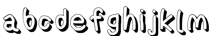 AppleStorm Shadow Extra Bold Font LOWERCASE