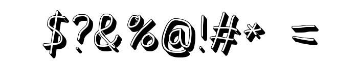 AppleStorm Shadow Regular Italic Font OTHER CHARS