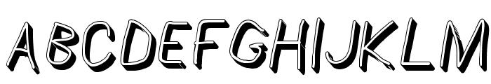 AppleStorm Shadow Regular Italic Font UPPERCASE