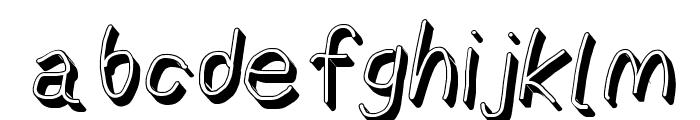 AppleStorm Shadow Regular Italic Font LOWERCASE