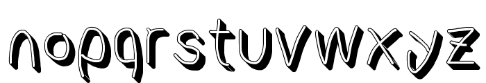 AppleStorm Shadow Regular Font LOWERCASE
