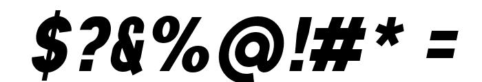 Aprikas Black Italic Demo Font OTHER CHARS