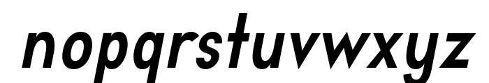Aprikas Bold Italic Demo Font LOWERCASE