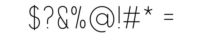 Aprikas Light Demo Font OTHER CHARS