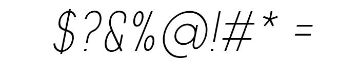Aprikas Light Italic Demo Font OTHER CHARS