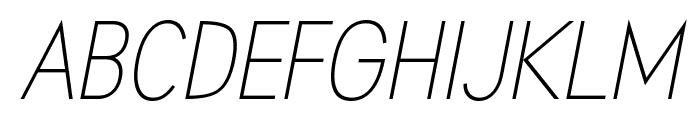 Aprikas Light Italic Demo Font UPPERCASE