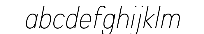Aprikas Light Italic Demo Font LOWERCASE