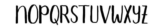 Aprils-Regular Font LOWERCASE