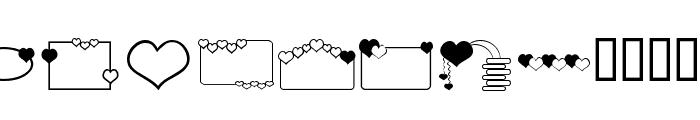 ap_hearts Font LOWERCASE