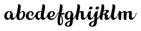 Aprilis Regular Font LOWERCASE