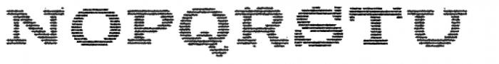 Apero Slab Bold Lines Font UPPERCASE