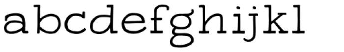 Apero Slab Regular Font LOWERCASE