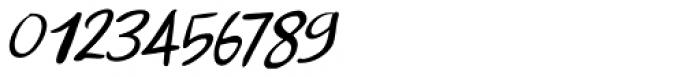 Apex Brush Lite Italic Font OTHER CHARS