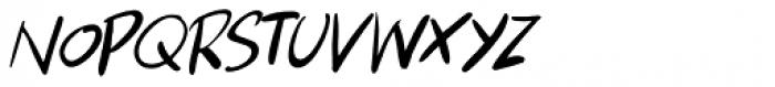 Apex Brush Lite Italic Font UPPERCASE