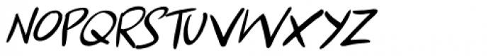 Apex Brush Lite Italic Font LOWERCASE