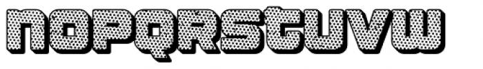 Apnea Drop Shadow Halftone Font LOWERCASE