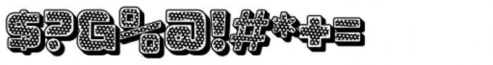 Apnea Drop Shadow Open Inline Fill Reverse Halftone Font OTHER CHARS